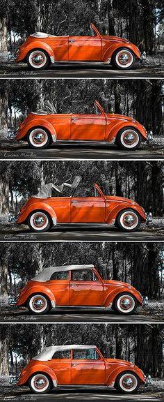 Green Folded Fisherman/'s Hat *NEW* Hayburner VW Magazine Volkswagen T1 T2 Beetle