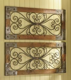 Rustic metal & wood screens for your walls