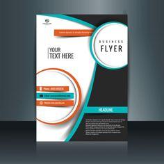 Modern brochure template Free Vector