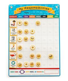 Squirrel Products My Responsibilities Emoji Chore Chart | zulily