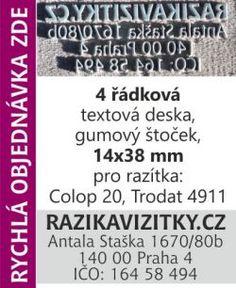 Textový štoček - deska pro razítka Colop 20, Trodat 4911