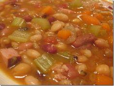 17 Bean Vegetable  Ham Soup