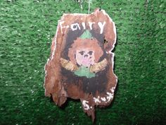 I painted this as an example to my students about how to use acrylic on bark. Fairies are only mentioned in The Hobbit, but we created several on bark.