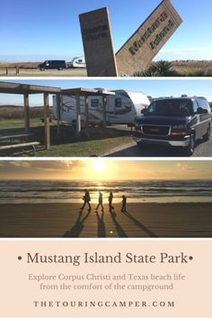 Explore Corpus Christi and soak up Texas beach life from the comfort of the campground at Mustang Island State Park. Camping In Texas, Beach Camping, Family Camping, Go Camping, Camping Hacks, Camping Guide, Texas Travel, Camping Ideas, Outdoor Camping