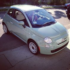 My BFF'S new #Fiat Pop 500 Her car's name is Allegra!
