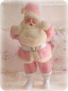 A vintage pink Santa