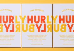 Logotype, packaging and print by London-based Midday Studio for Hurly Burly's latest range of raw slaw