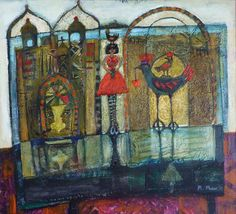 Morag  Muir - The Red Dress Paintings, Illustrations, Artists, Gallery, Red, Dresses, Vestidos, Paint, Roof Rack