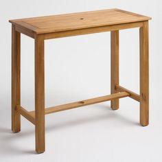 Wood St. Lucia Balcony Bar Table - v1