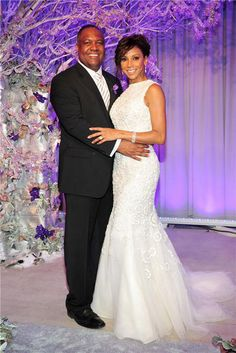 The vow renewal for Actress Holly Robinson Peete and Rodney Peet at The Empire State Building.