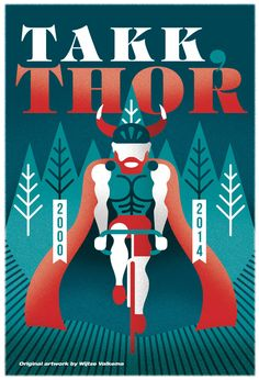 Hommage poster celebrating #ThorHushovd's career! reprints at info@bamseontwerpt.nl