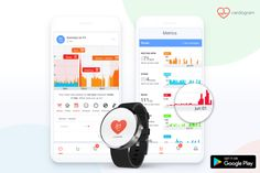 Cardiogram, The Heart Rate Data App, Comes To Android Wear Android Wear, Android Watch, Causes Of Heart Attack, Benefits Of Running, Apple Health, Heart Rate, Fitness Tracker, Tech Gadgets, New Technology