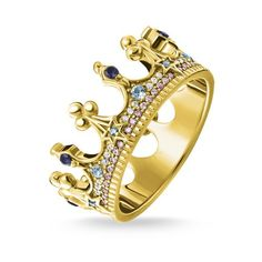 ring crown silver - – from the Women collection from Order now easy & secure in our official THOMAS SABO online shop! Gold Gold, Thomas Sabo Bague, Womens Jewelry Rings, Women Jewelry, Ringe Gold, Piercing Ring, Gold Crown, Argent Sterling, Sterling Silver