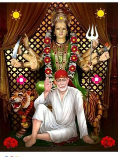 Kali Hindu, Durga Maa, Durga Goddess, Vaishno Devi, Sathya Sai Baba, Ascended Masters, Om Sai Ram, Indian Gods, Festivals