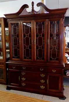 Chippendale China Cabinet, antique | Antiques & Collectibles at ...