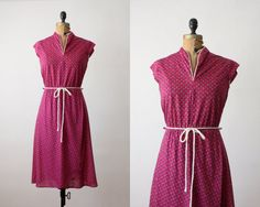 1970's floral day dress by Thrush on Etsy