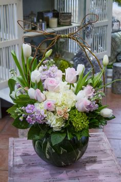 Awesome 49 Unordinary Flower Garden Arrangement Ideas For Amazing Home Easter Flower Arrangements, Artificial Flower Arrangements, Easter Flowers, Beautiful Flower Arrangements, Artificial Flowers, Floral Arrangements, Creative Flower Arrangements, Fresh Flowers, Colorful Flowers