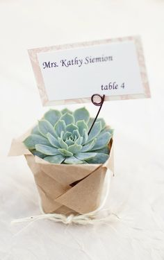 favor and escort card, but a good idea for a dinner party or hostess gift even