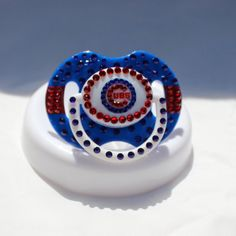19070bc6 Chicago Cubs Blinged Out Baby Pacifier by BlingedOutThings on Etsy, $30.00