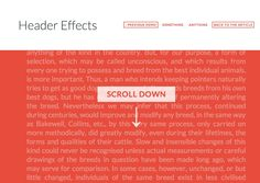 Header Effects from http://tympanus.net/Development/HeaderEffects/