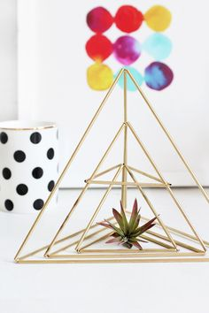 HOME   Himmeli Triangle Succulent Holder