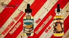 Muchies E Liquid Smore and Strawberry Milkshake 60ml 70VG #vape #eliquid #cloudchaser #subohm https://www.vapeways.com