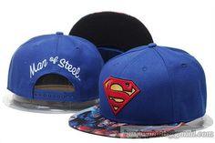 Superman Snapback Hats Flat Brim Caps Blue 227