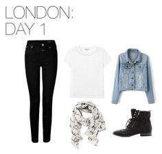 London: Day 1 by skittlebug1 on Polyvore featuring Monki, Closed, Sam Edelman and Disney