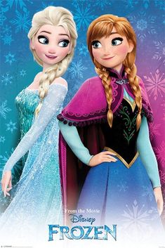 """In the movie """"Frozen"""" Elsa is the first born daughter and Anna is the second born daughter This can been seen in the details of their different hairstyles. Elsa having one braid in her hair and Anna having 2 braids. Frozen Disney, Frozen Movie, Frozen Elsa And Anna, Frozen 2013, Elsa Anna, Olaf Frozen, Walt Disney, Frozen Poster, Frozen Images"""