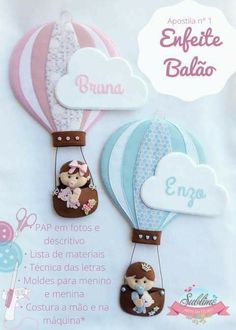 Batizado Baby Crafts, Felt Crafts, Diy And Crafts, Crafts For Kids, Luxury Nursery, Crochet Hats For Boys, Easy Christmas Ornaments, Quilled Paper Art, Felted Wool Crafts