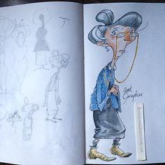 Aunt Josephine the grammerist. #sketch #SeriesOfUnfortunateEvents #inktober2016