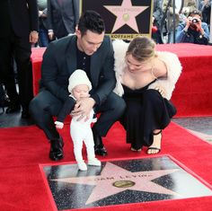 HOLLYWOOD, CA - FEBRUARY 10:  Recording artist Adam Levine (L), wife model Behati Prinsloo and their daughter attend his being honored with a Star on the Hollywood Walk of Fame on February 10, 2017 in Hollywood, California.  (Photo by David Livingston/Getty Images) via @AOL_Lifestyle Read more: https://www.aol.com/article/entertainment/2017/02/10/adam-levines-daughter-dusty-rose-steals-the-show-at-his-hollywo/21711707/?a_dgi=aolshare_pinterest#fullscreen