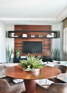 Living Room Tv Unit Designs, Home Tv, Dream Decor, Home Decor Kitchen, Plant Decor, Sweet Home, New Homes, Interior Design, Toque