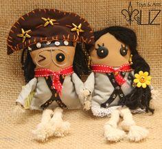 Toyarts Lampião e Maria Bonita Toys & Arts da Liz