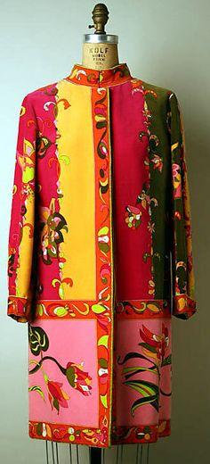 Silk Pucci Ensemble (Coat), 1965-1969