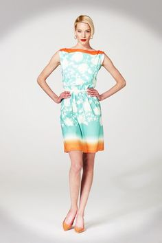 Dip Dye Floral Cotton dress from Maggy London