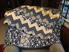 Chevron Quilt, via Flickr.  I finished this one over the weekend and LOVE the way it turned out!