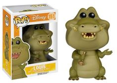 Princess and the Frog Louis the Alligator Pop! Vinyl Figure! That trumpet-playing alligator from Disney's The Princess and the Frog might not be human yet, but he makes a great vinyl figure! #funko #collectible #popvinyl #actionfigure #toy #disney #PrincessandtheFrog #LouistheAlligator