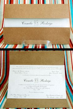 Convite de casamento - Rústico