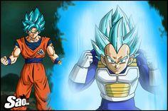 Goku y Vegeta SSJ Blue by SaoDVD on DeviantArt