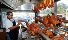 The typical Lechon Asado is an integral part of Puerto Rican Food