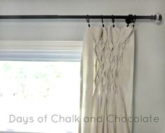 Days of Chalk and Chocolate: Smocked Drop Cloth Curtains  #dropcloth