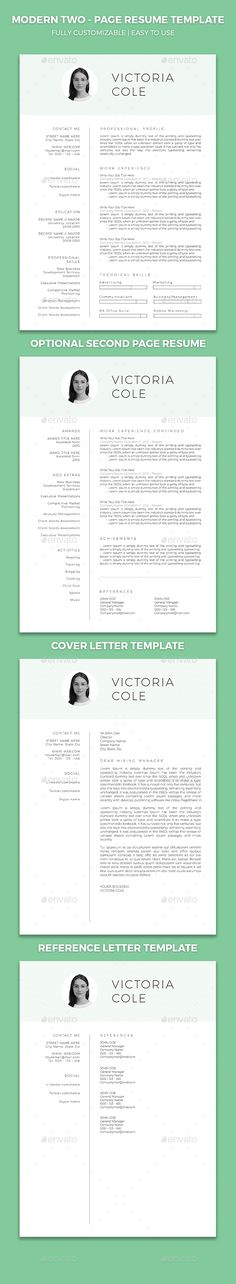 Simple Resume Template Set  Simple Resume Template Simple Resume