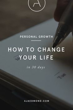 Want to completely redesign your life? If you have the self-motivation to commit to a personal growth challenge then follow my guide on how to change your life in 30 days. #personaldevelopment