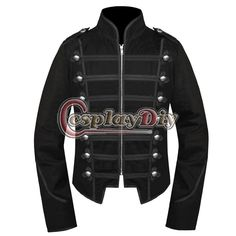 My Chemical Romance Emo Black Military Parade Jacket Halloween Cosplay Costume Custom Made D0915#black parade jacket