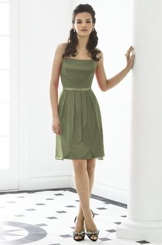Lux Chiffon Moss Green Bridesmaid Dresses AX03343  Emily ...