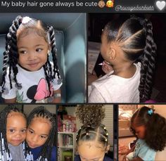 Girls Natural Hairstyles, Baby Girl Hairstyles, Baddie Hairstyles, Cute Mixed Babies, Cute Black Babies, Cute Babies, Black Baby Girls, Toddler Hair, Baby Family