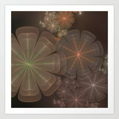 NeonSeries037 Art Print by fracts - fractal art - $16.00