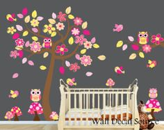 Nursery Wall Decal Colorful Branch Decal by WallDecalSource