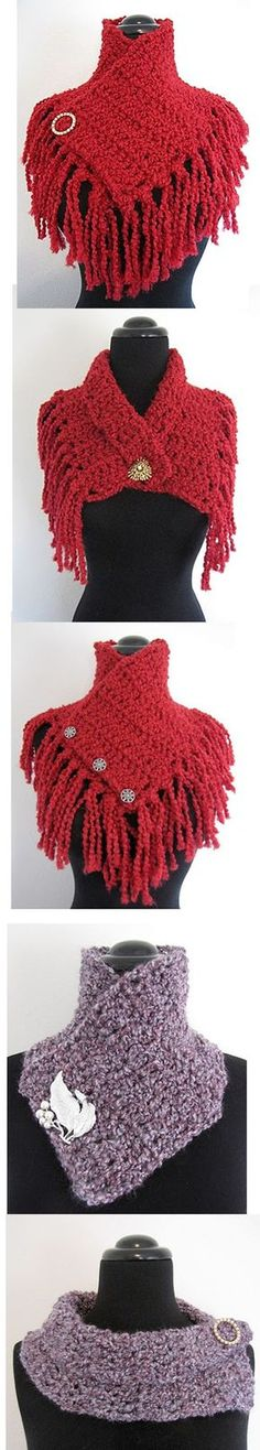 Super Quick and Easy Scarflette: A free pattern for you : 1 modèle, 5 versions